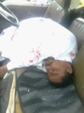 This is the late Sheikh ABOUD Rogo after he was shot dead in his van.
